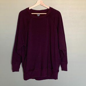 Aerie burgundy slouchy distressed sweatshirt sz M